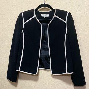 Kasper Black with White Trim Blazer Jacket